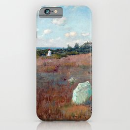 William Merritt Chase Gathering Autumn Flowers iPhone Case