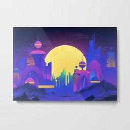 Synthwave Neon City #13 Metal Print