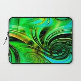Curls Deluxe Green Laptop Sleeve