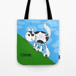 Climb High Kitty Child's Illustration Tote Bag