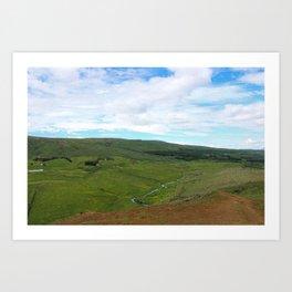 Rolling Hills of Iceland Art Print