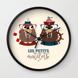 Les petits matelots Wall Clock