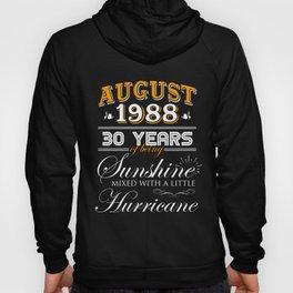 August 1988 Gifts 30 Years Anniversary Celebration Hoody