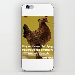 Herzog's Dancing Chicken iPhone Skin