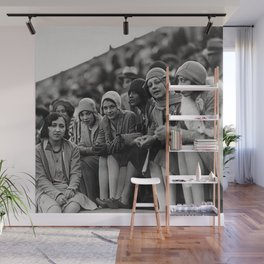 Jazz Age African American 1920's era flappers black and white photograph - art photography Wall Mural