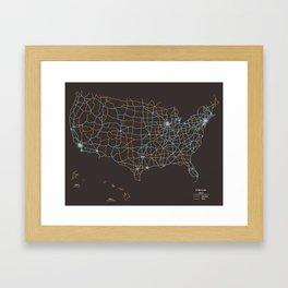 US Highways Framed Art Print