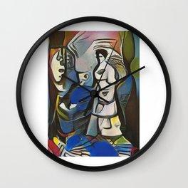"Minimalistic Vibrant Abstract Art-Piece titled ""Set Forth"" Art Board Print Wall Clock"