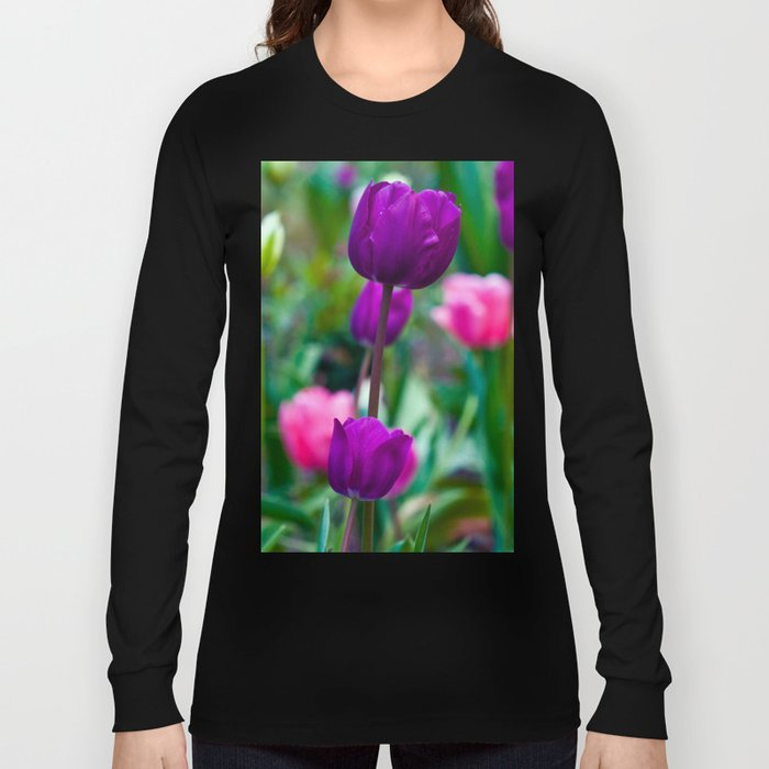 Colorful Tulips Long Sleeve T-shirt