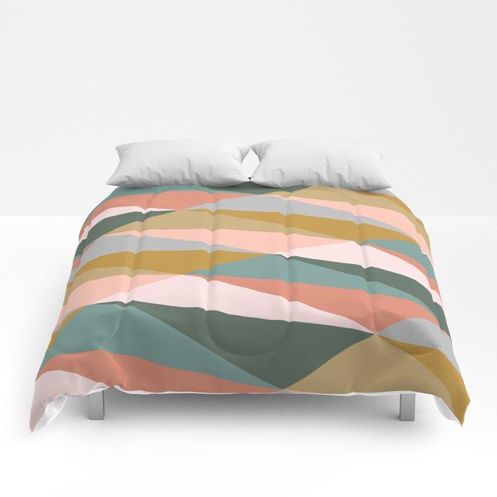 Earthy Diagonals Comforters