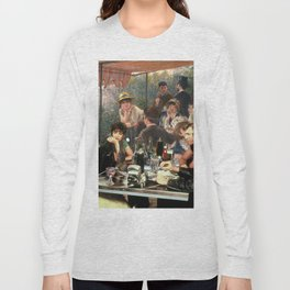 Renoir's Luncheon of the Boating Party & Grease Long Sleeve T-shirt