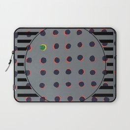 Green Floats on Yellow - line graphic Laptop Sleeve