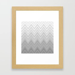 Chevron Fade Grey Framed Art Print