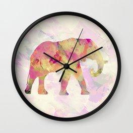 Abstract Elephant II Wall Clock
