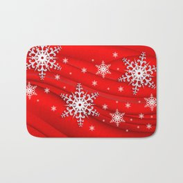 Abstract background with snowflakes Bath Mat