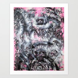 Perforated Schisms and Endless Eyes Art Print