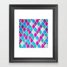 Geo-Colour Framed Art Print