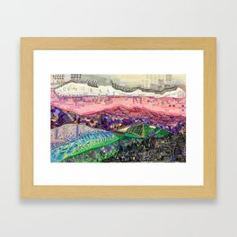 Big Mountians Framed Art Print