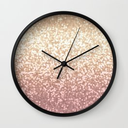 Champagne Gold Blush Pink Glittery Ombre Pattern #society6 Wall Clock