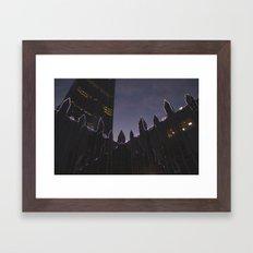 Market Square Christmas Framed Art Print