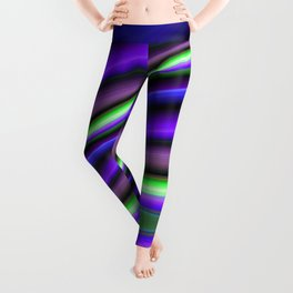 Abstract Fractal Colorways 01PL Leggings