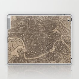 Vintage Map of Rome Italy (1730) Laptop & iPad Skin