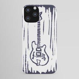 """Trey Anastasio's (Phish) Languedoc G2 """"Ocelot"""" Guitar Linocut Print iPhone Case"""