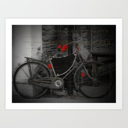 Delivery Bicycle Art Print