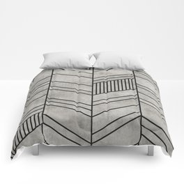 Concrete Chevron Pattern Comforters