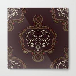 Boreal Owl Skull ~ Dark Metal Print