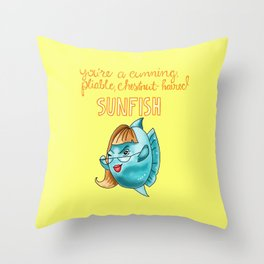 Leslie Knope Compliments: Chestnut-Haired Sunfish  Throw Pillow