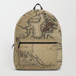 Vintage Boston Revolutionary War Map (1775) Backpack