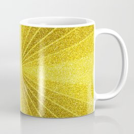 Geometric gold glitter mosaic, diagonal sun rays, gold abstract sparkles Coffee Mug