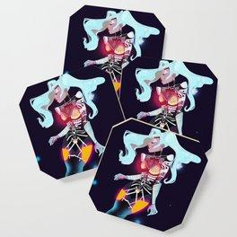 LadyGaga Enigma Anime Character Design at the Las Vegas Show Coaster