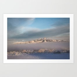 Heart Mountian Winter Fog Art Print