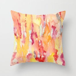 Dripping Watercolors Throw Pillow
