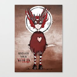 Quirky Claim your Wild Canvas Print