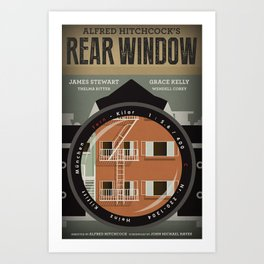 Rear Window tribute poster Art Print