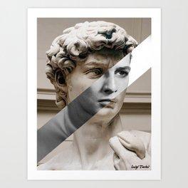 Michelangelo's David & Marlon Brando Art Print
