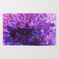 LOTUS BLOSSUM - Beautiful Purple Floral Abstract, Modern Decor in Eggplant Plum Lavender Lilac Rug