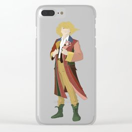 Sixth Doctor Punk Clear iPhone Case