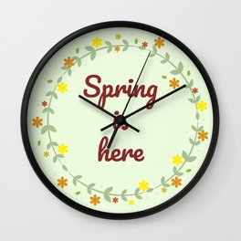The Arrival of Spring I Wall Clock