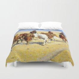 "Frederic Remington Art ""Pony Tracks In the Buffalo Trail"" Duvet Cover"