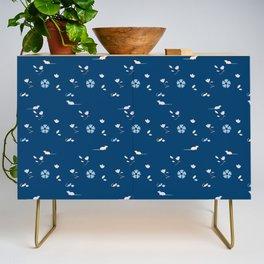 Brux & Boggle #2: Floral Rats (blue) Credenza