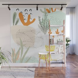 Meadow muse - warm Wall Mural