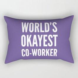 World's Okayest Co-worker (Ultra Violet) Rectangular Pillow