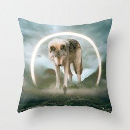 aegis   wolf Throw Pillow