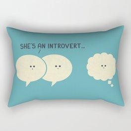 Introvert (Alt Version) Rectangular Pillow