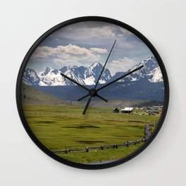 Sawtooths from Lower Stanley, Idaho Wall Clock