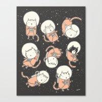cats Canvas Prints featuring Cat-Stronauts by Drew Brockington