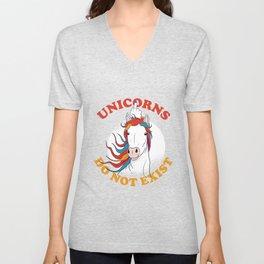 Unicorns do not exist Unisex V-Neck